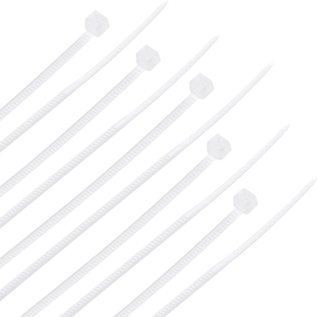 Cable Zip Ties 100mmx1.8mm Self-Locking Nylon Tie Wraps White 300pcs