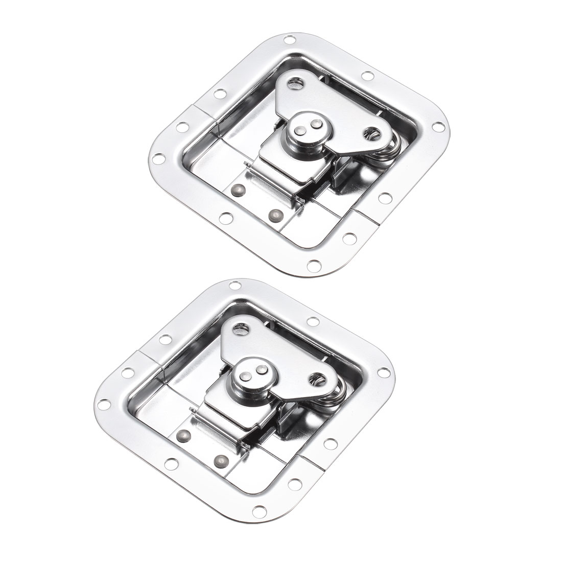 Butterfly Case Box Recessed Latch 4-1/4-inch x 4-Inch Spring Loaded 2 Pcs