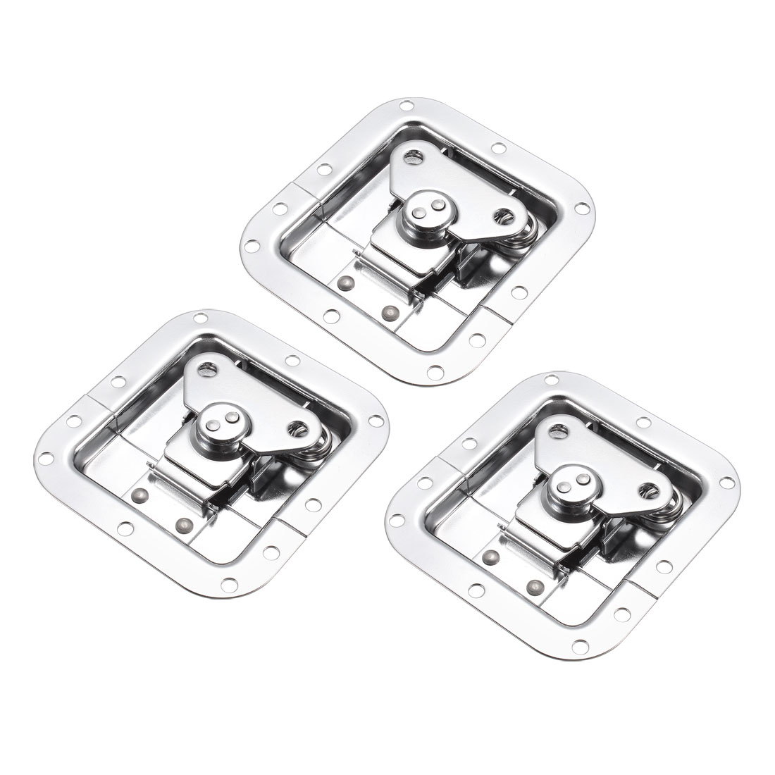 Butterfly Case Box Recessed Latch 4-1/4-inch x 4-Inch Spring Loaded 3 Pcs