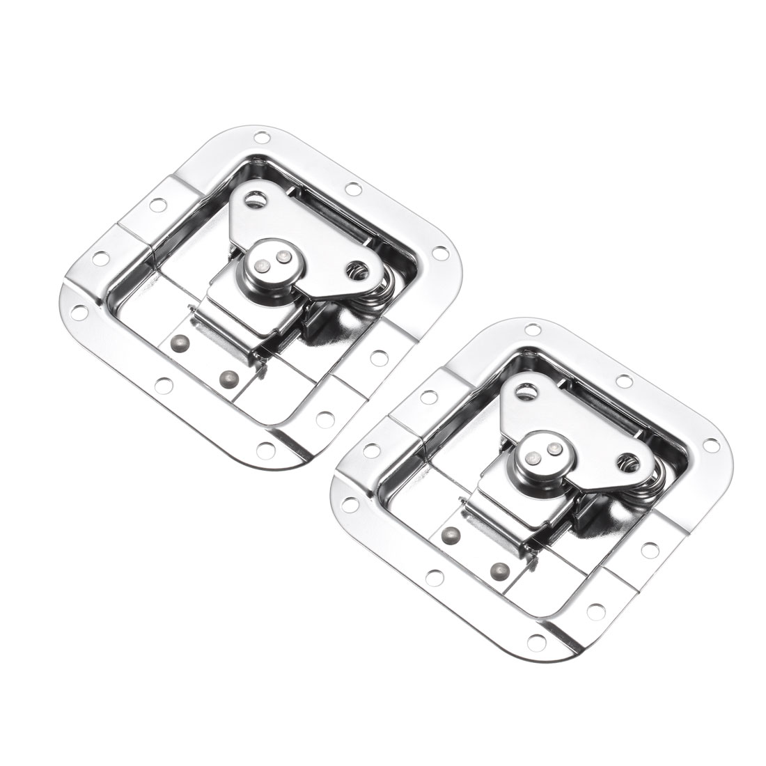 Butterfly Case Box Recessed Latch 4.06-inch x 4-Inch Spring Loaded 2Pcs