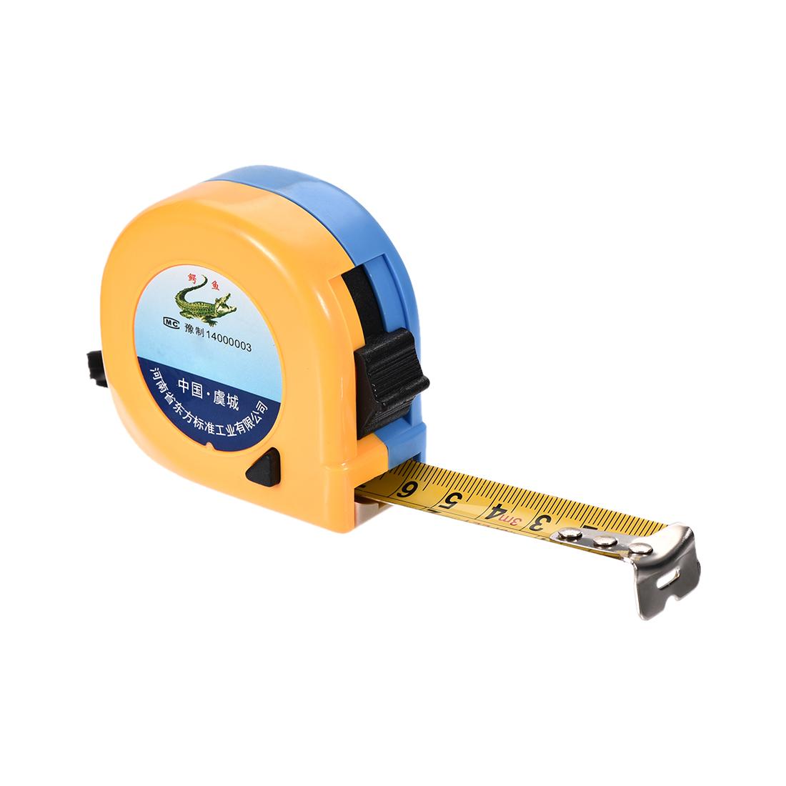 Tape Measure 3 Meter 10 Feet 17mm Width Retractable Metric Plastic Round Case