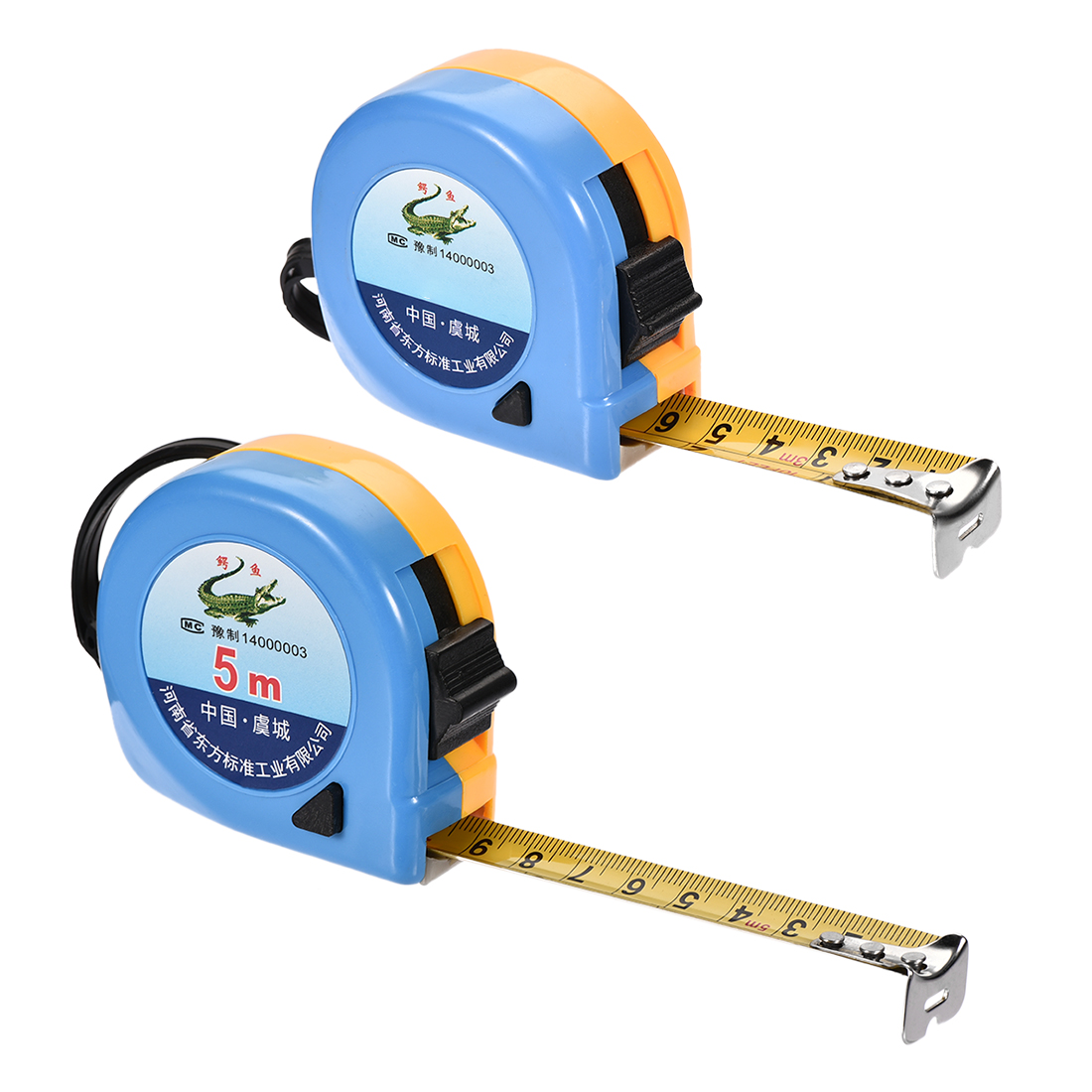Tape Measure 3-5 Meter 10-16 Feet Retractable Metric Round Case 2 in 1 Set