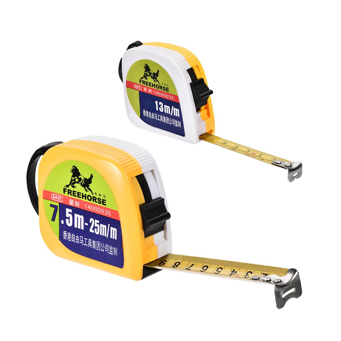 Tape Measure 3 M 7.5 M 10 Ft 25 Ft Retractable Metric Round Case 2 in 1 Set
