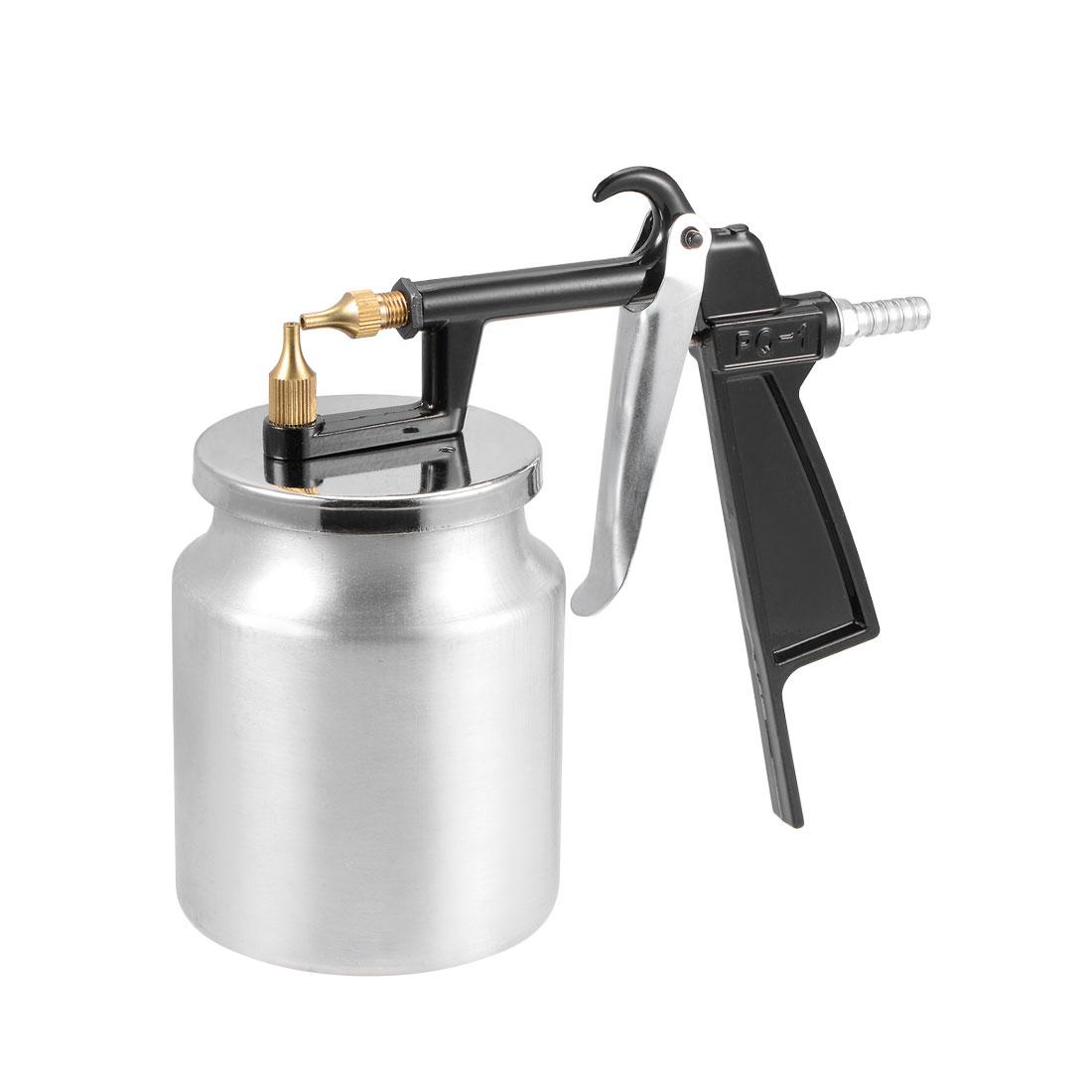 Spray Gun 2mm Nozzle w 400cc Cup HVLP Siphon Feed Paint Tool Kit Aluminium Alloy