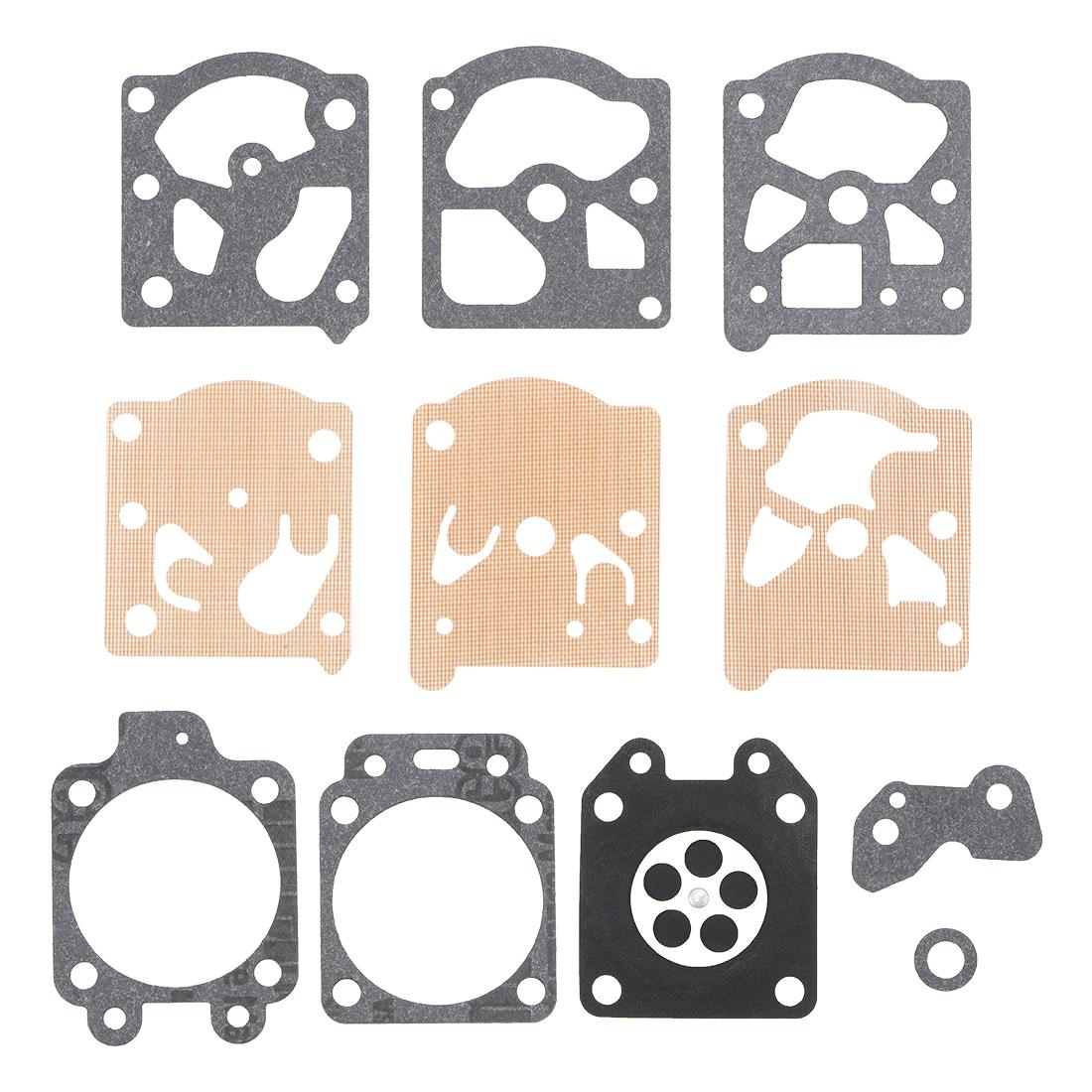 Carburetor Rebuild Kit Gasket Diaphragm for K20WAT Chainsaw String Engines 3 Pcs