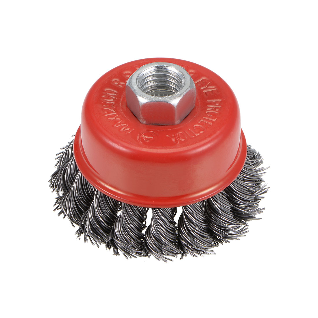 2-1/2-Inch Wire Cup Brush Twist Knotted Crimped Steel with M14 Threaded Hole