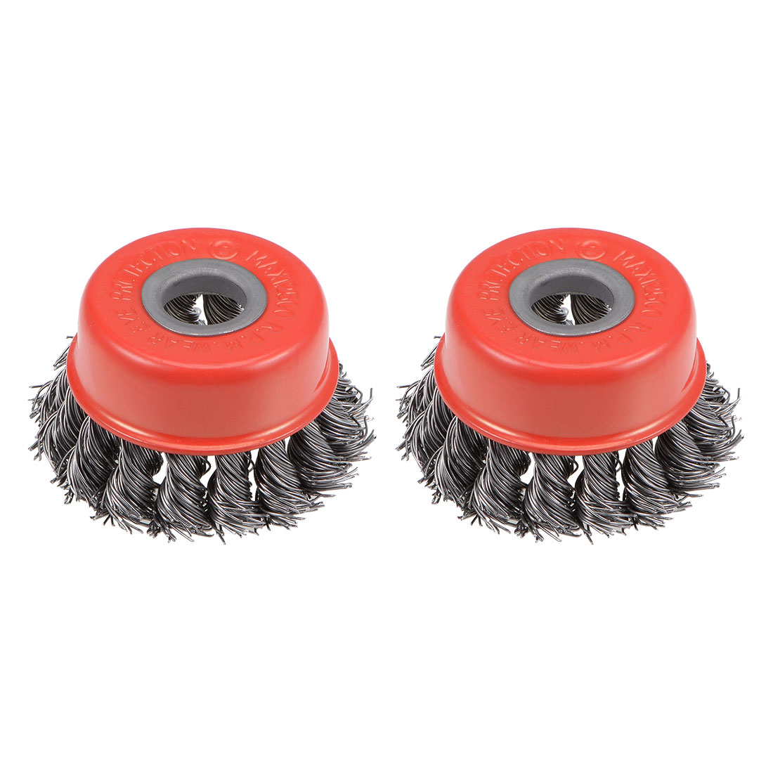 2-1/2-Inch Wire Cup Brush Twist Knotted Crimped Steel with 5/8-Inch Arbor 2 Pcs