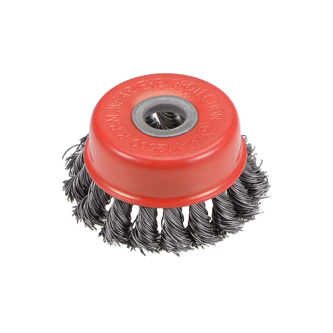 3-Inch Wire Cup Brush Twist Knotted Crimped Steel with 15mm Arbor Hole
