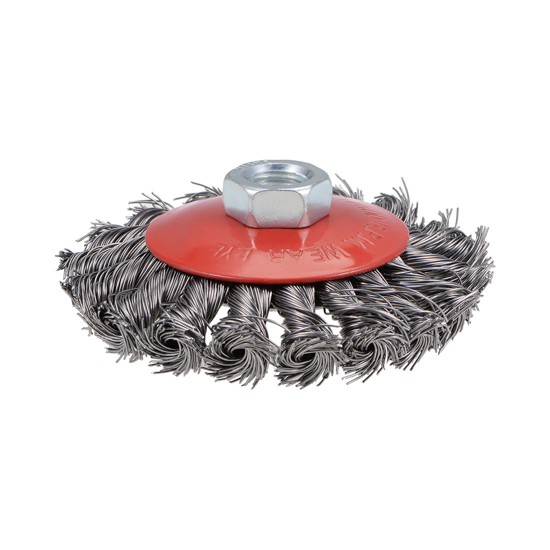 100mm Wire Cup Brush Twist Knotted Crimped Steel with M14 Threaded Hole
