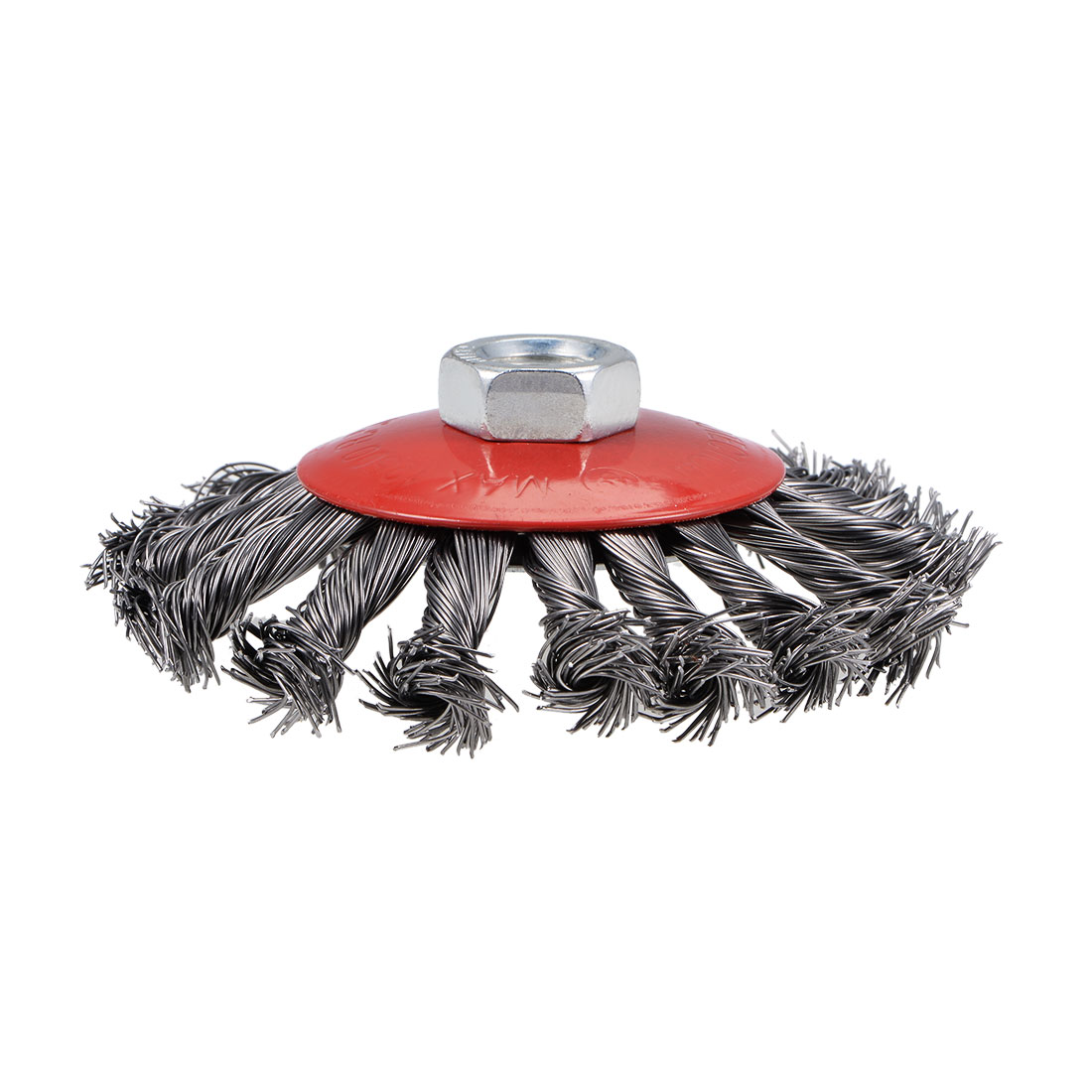108mm Wire Cup Brush Twist Knotted Crimped Steel with M14 Threaded Hole