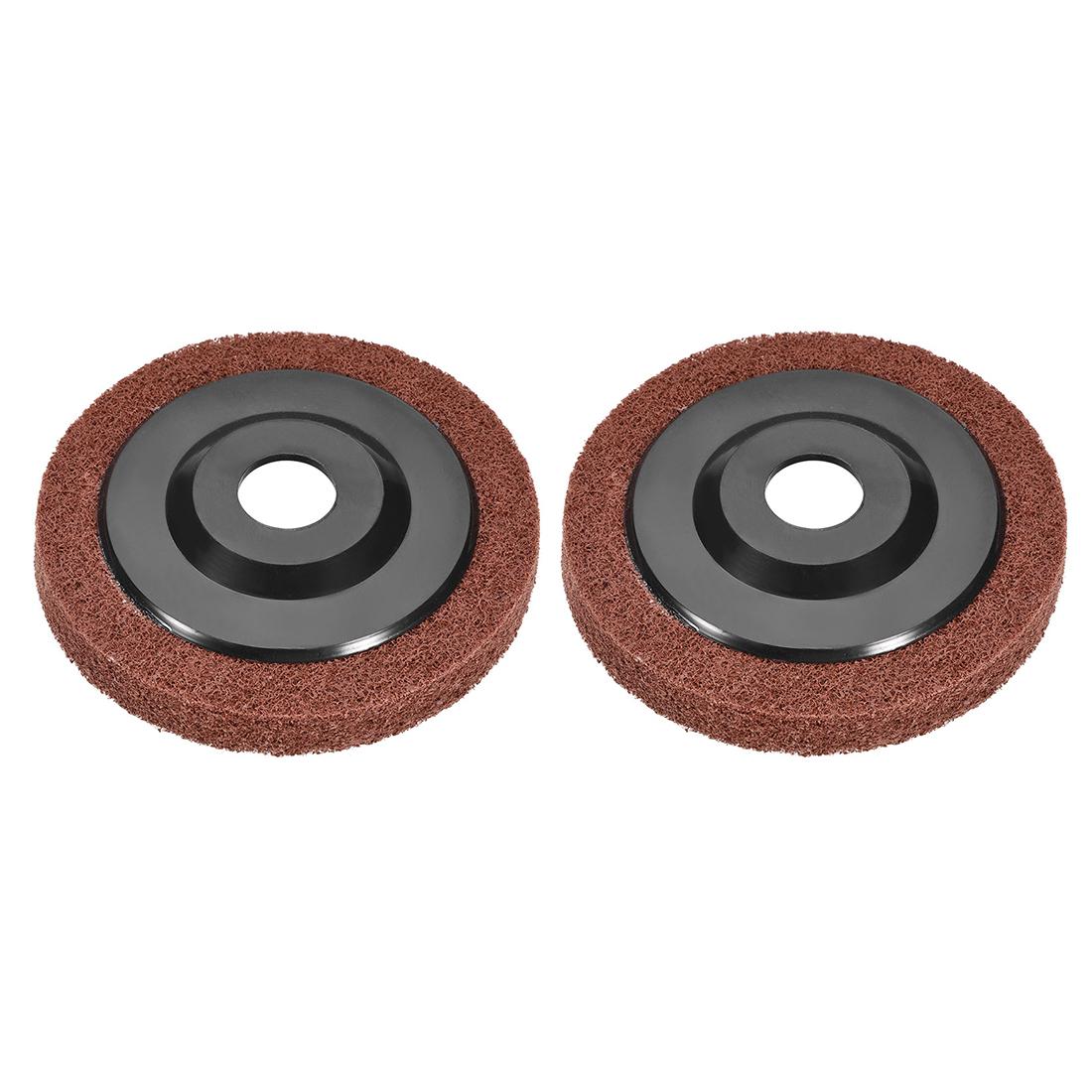 4.5 Inch Polishing Wheel Buffing Pad Felt Disc for 100 Angle Grinders Black 2pcs