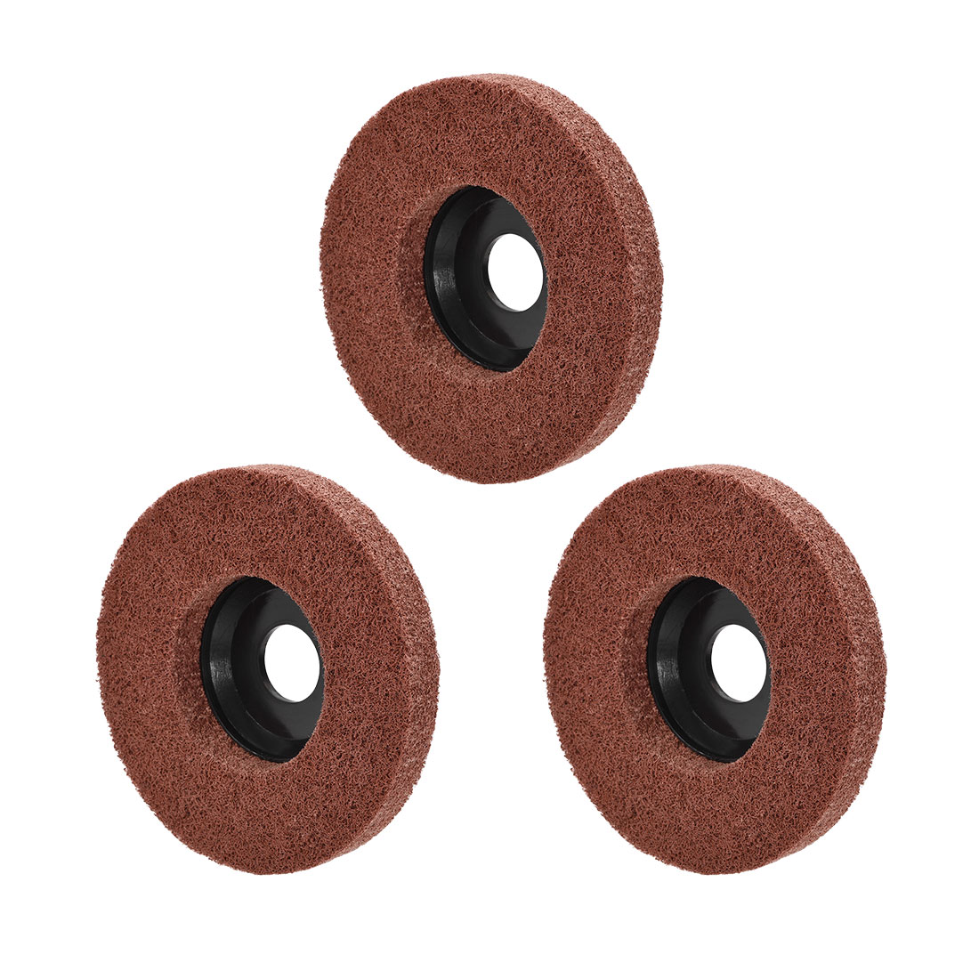4.5 Inch Polishing Wheel Buffing Pad Felt Disc for 100 Angle Grinders Black 3pcs