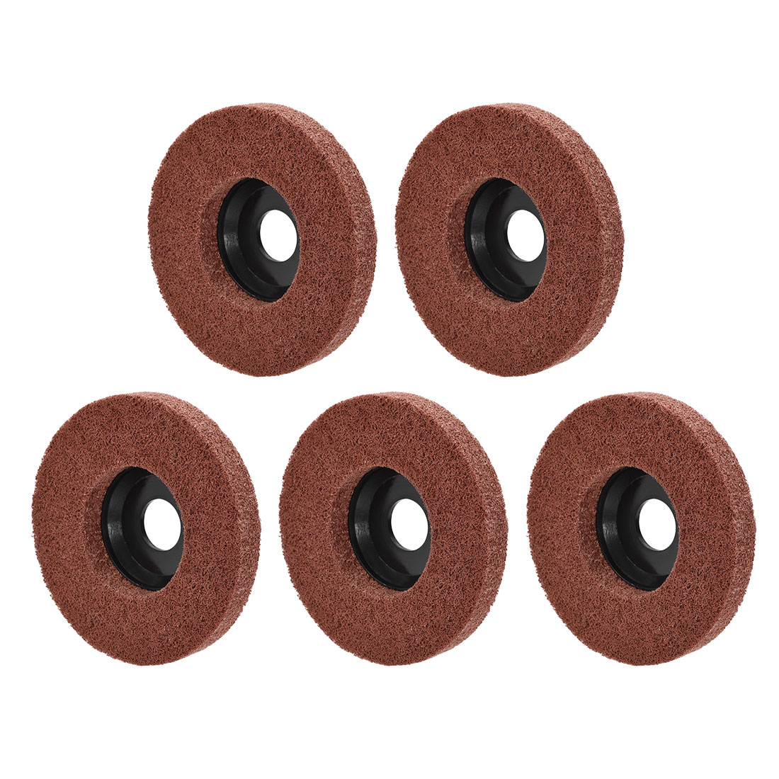 4.5 Inch Polishing Wheel Buffing Pad Felt Disc for 100 Angle Grinders Black 5pcs