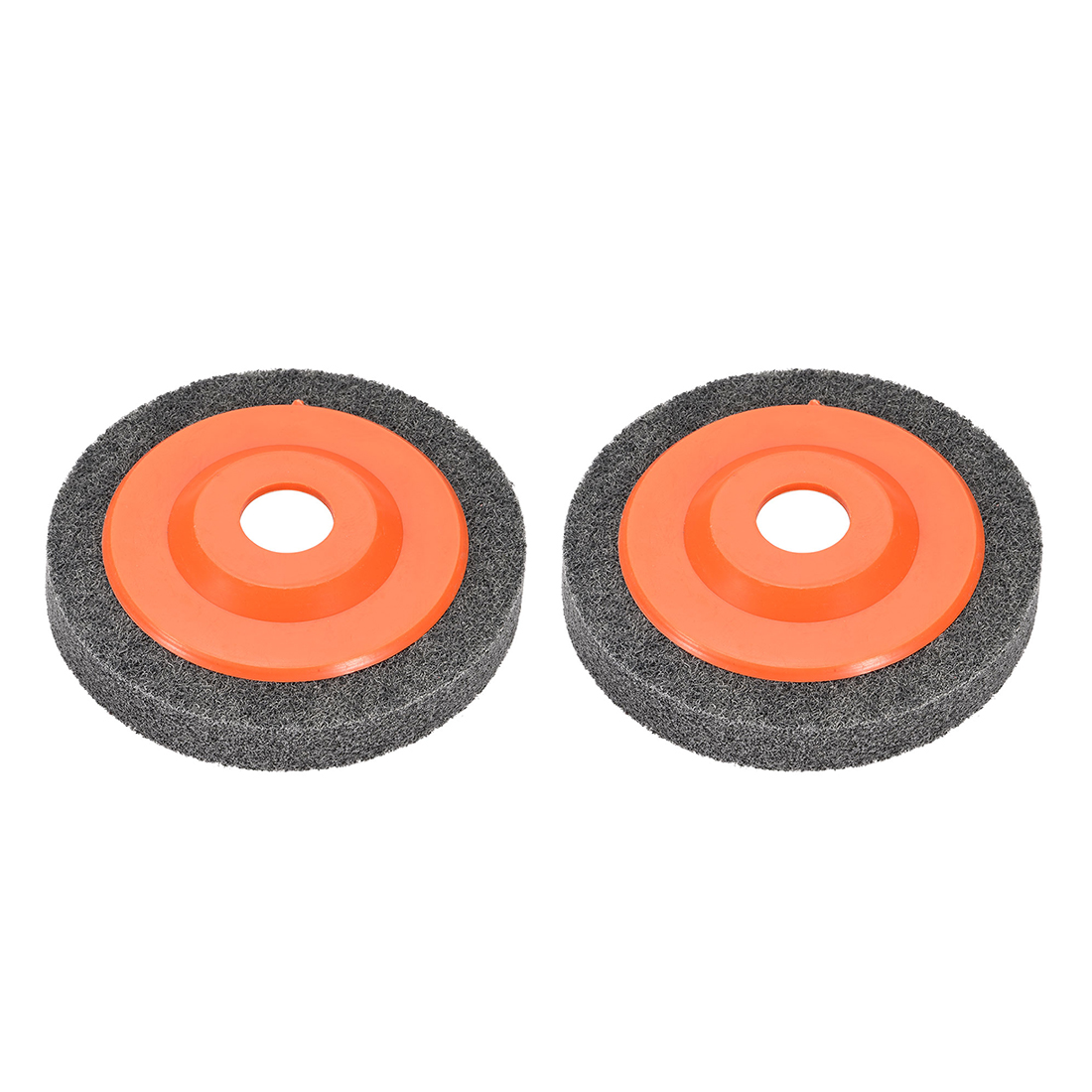 4.5 Inch Polishing Wheel Buffing Pad Disc for 100 Angle Grinders Orange 2pcs