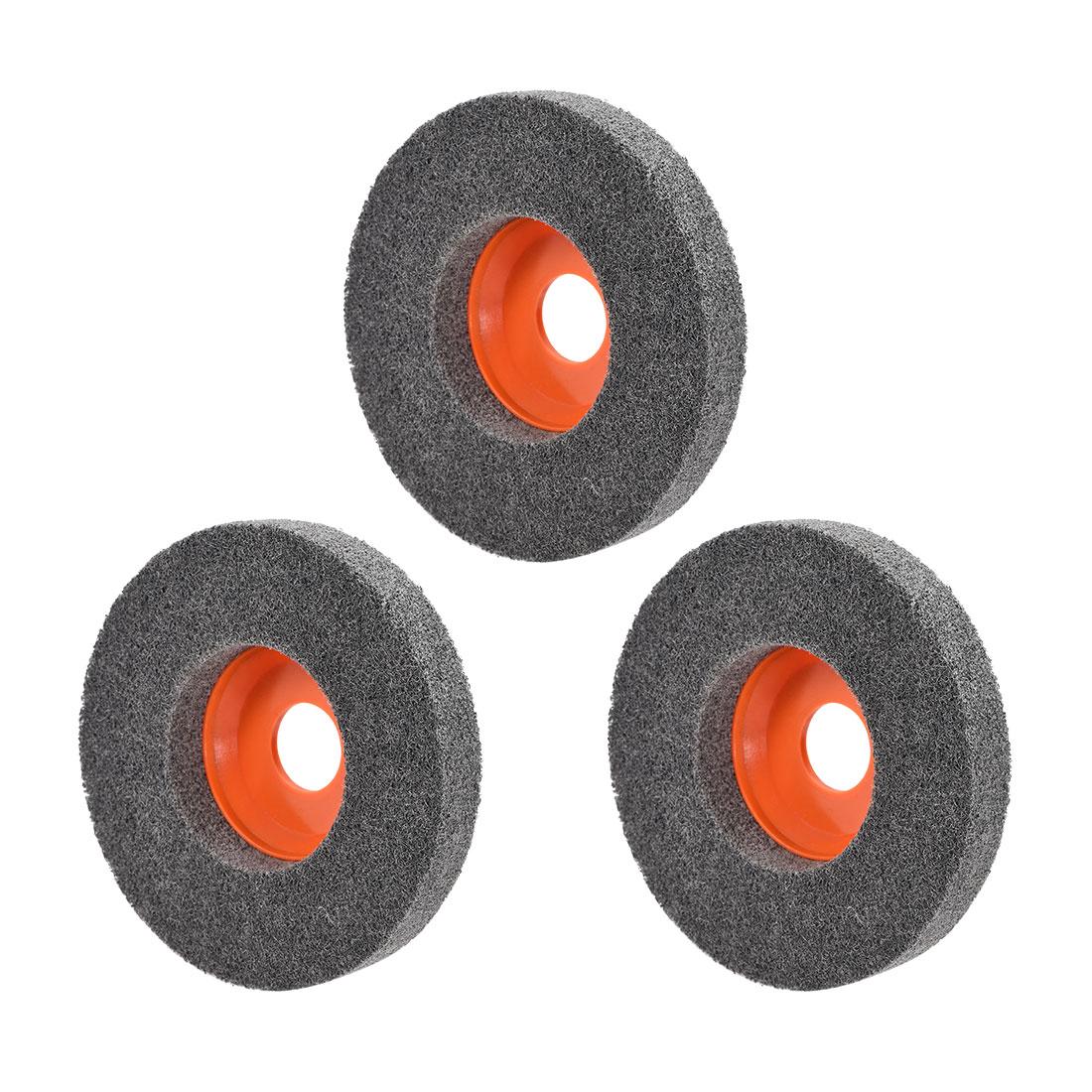 4.5 Inch Polishing Wheel Buffing Pad Disc for 100 Angle Grinders Orange 3pcs