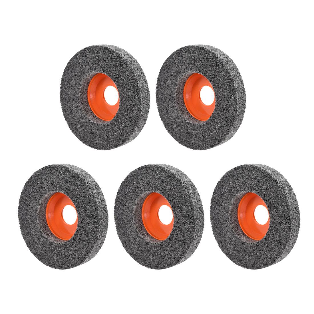 4.5 Inch Polishing Wheel Buffing Pad Disc for 100 Angle Grinders Orange 5pcs