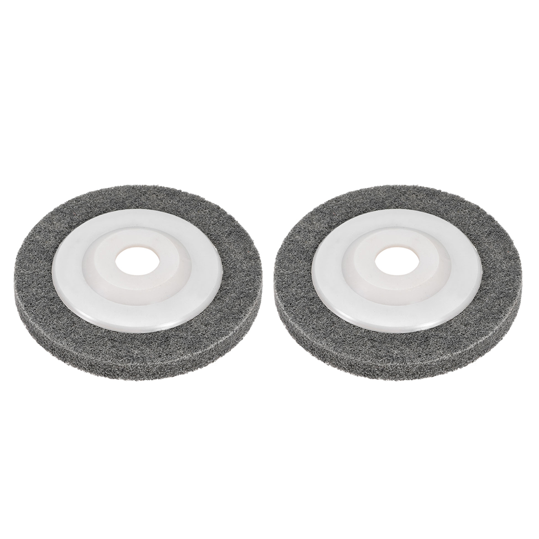 5 Inch Polishing Wheel Buffing Pad Felt Disc for 100 Angle Grinders White 2pcs