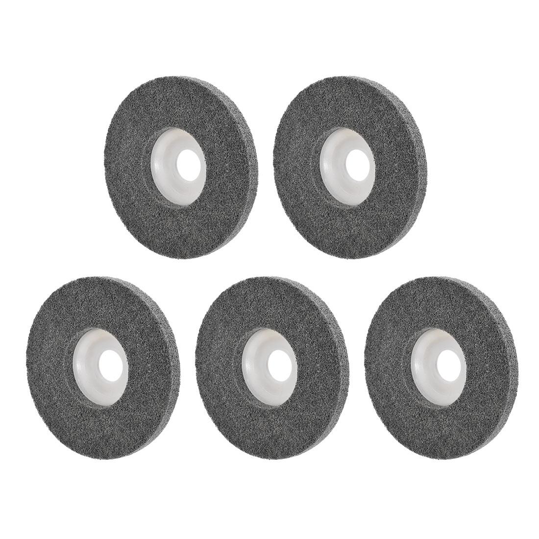 5 Inch Polishing Wheel Buffing Pad Felt Disc for 100 Angle Grinders White 5pcs