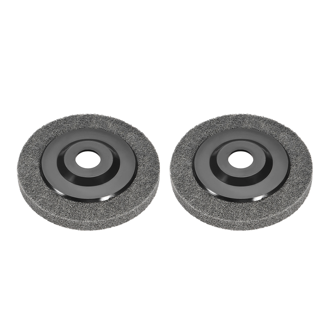 5 Inch Polishing Wheel Buffing Pad Felt Disc for 100 Angle Grinders Black 2pcs