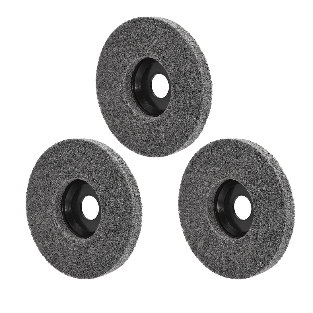 5 Inch Polishing Wheel Buffing Pad Felt Disc for 100 Angle Grinders Black 3pcs
