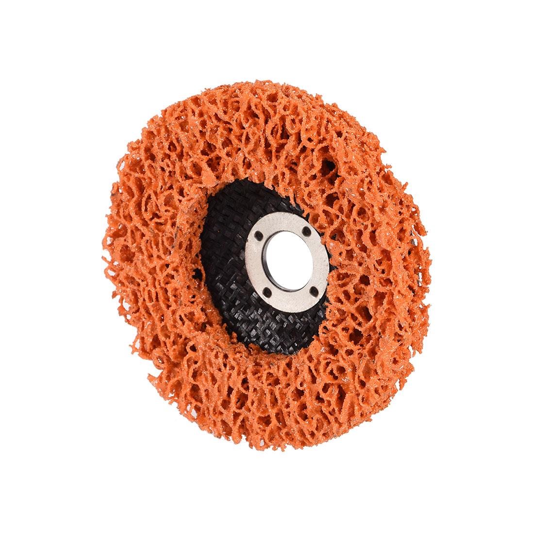 4 Inch Nylon Polishing Wheel Buffing Pad Felt Disc Orange
