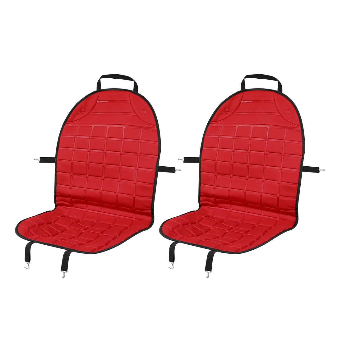 2pcs Universal DC 12V Heated Car Front Seat Heating Chair Cushion Warmer Pad Red