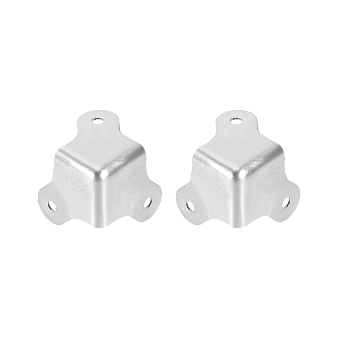 Metal Box Corner Protectors Edge Guard Protector 22.5 x 22.5 x 22.5mm 2pcs