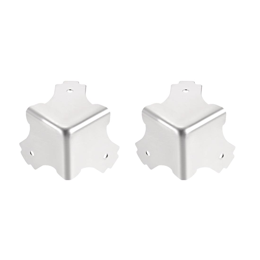 Metal Box Corner Protectors Edge Guard Protector 38.8 x 38.8 x 38.8mm 2pcs
