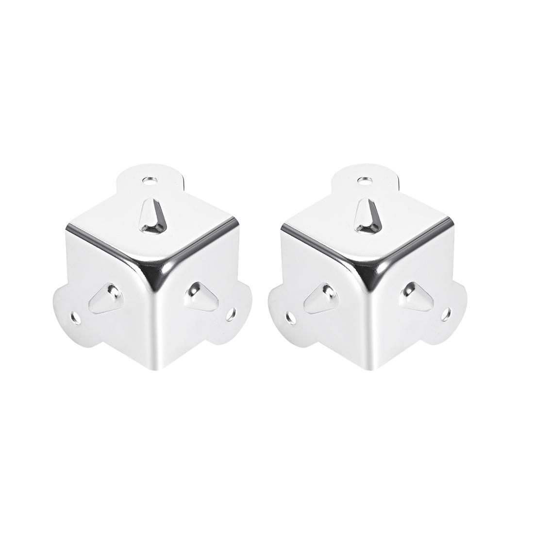 Metal Box Corner Protectors Edge Guard Protector 41.5 x 41.5 x 41.5mm 2pcs