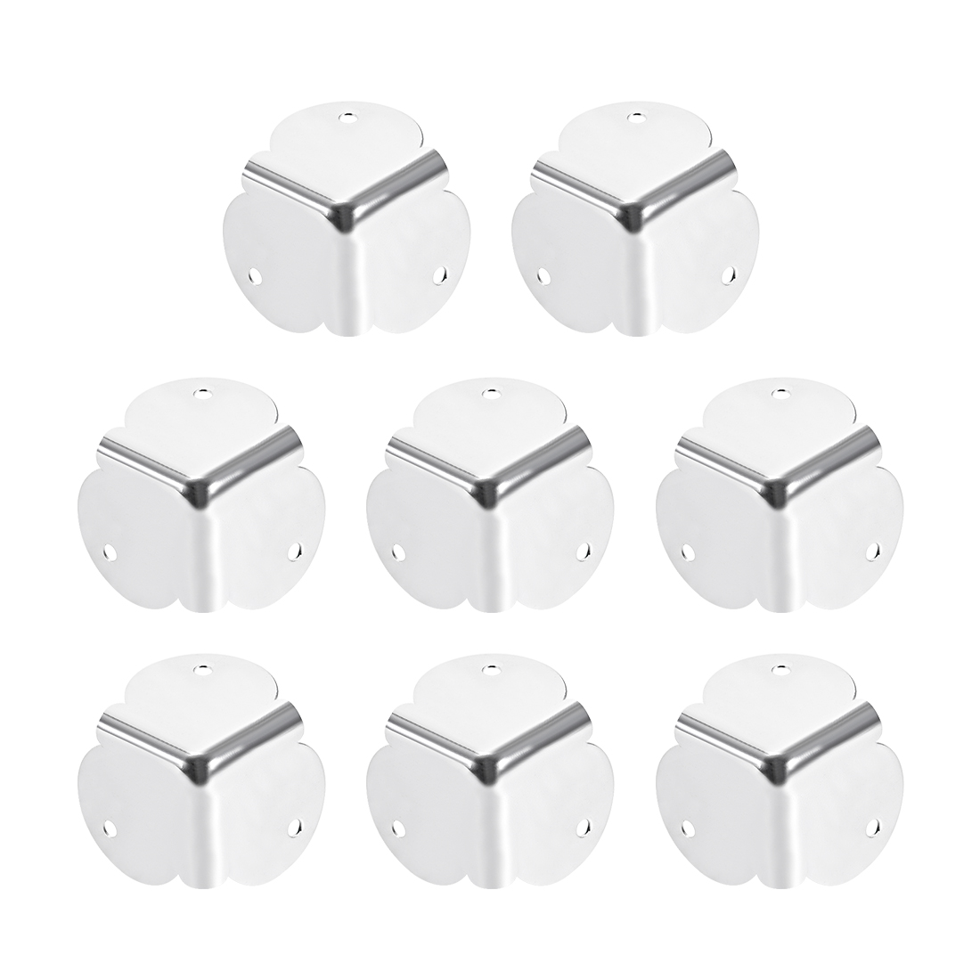Metal Box Corner Protectors Edge Guard Protector 32 x 32 x 32mm 8pcs