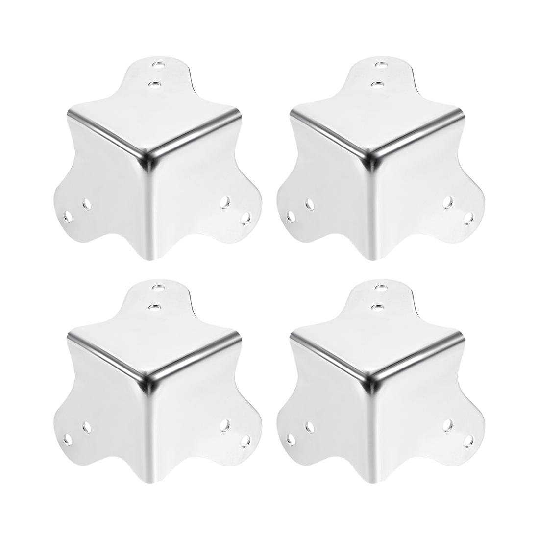 Metal Box Corner Protectors Wooden Box Edge Guard Protector 60 x 60 x 60mm 4pcs