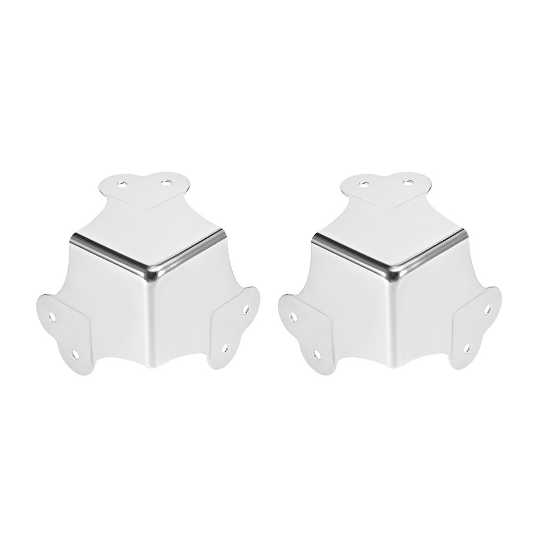 Metal Box Corner Protectors Edge Guard Protector 66.5 x 66.5 x 66.5mm 2pcs