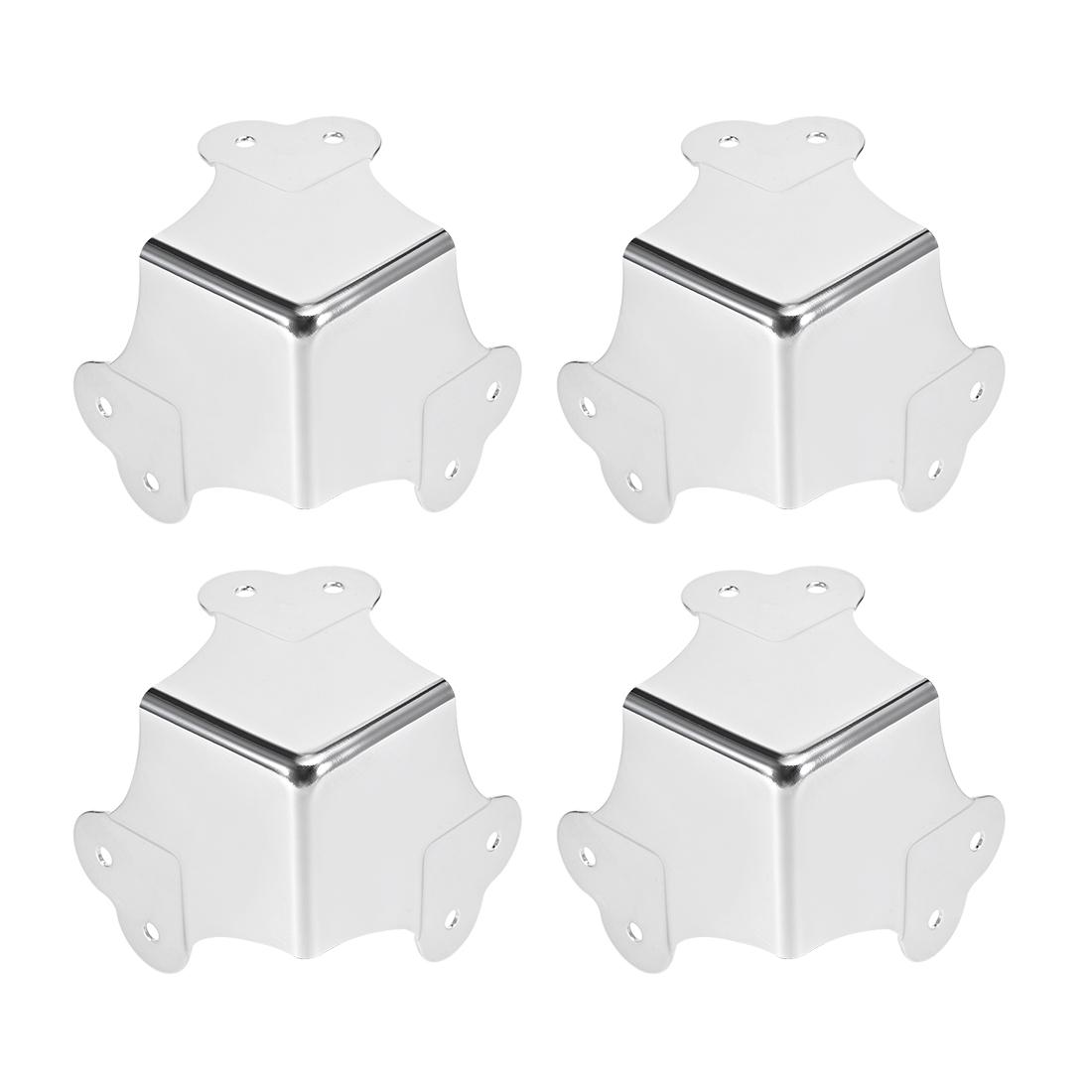 Metal Box Corner Protectors Edge Guard Protector 66.5 x 66.5 x 66.5mm 4pcs