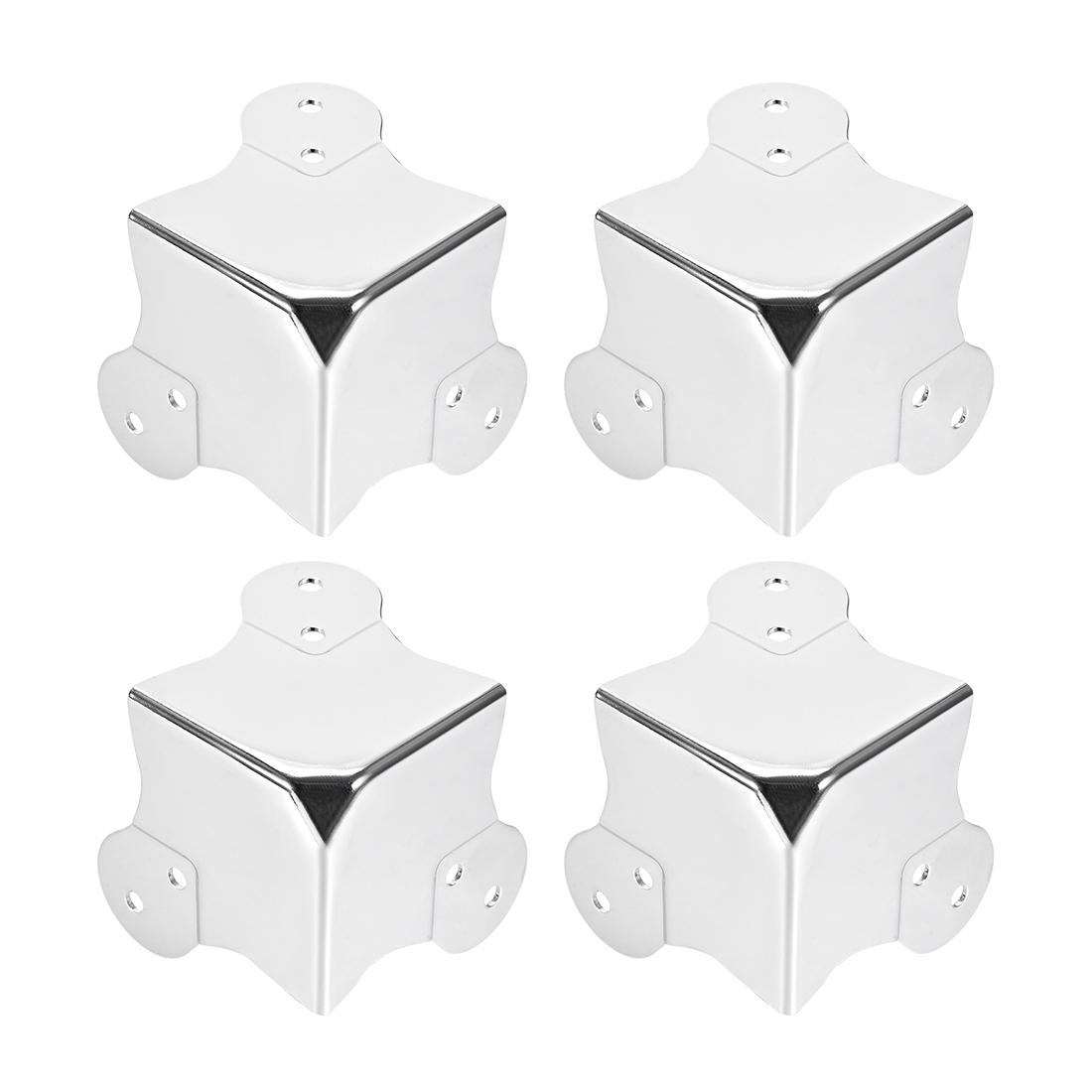 Metal Box Corner Protectors Wooden Box Edge Guard Protector 58 x 58 x 58mm 4pcs