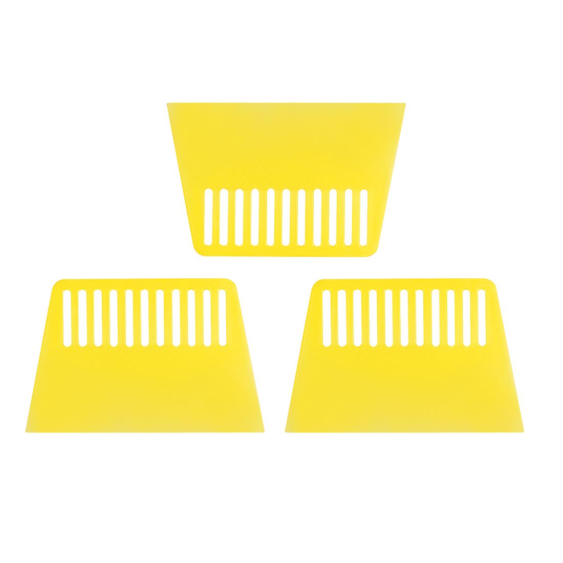 3x Plastic Scraper S Size Putty Spatula Smooth Spread Wall Paper Auto Windshield