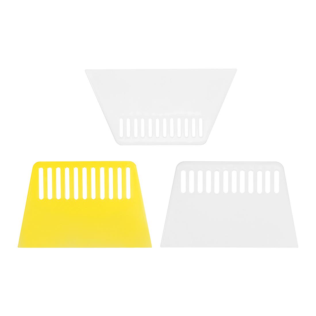 3in1 Set Plastic Scraper Putty Spatula Smooth Spread -Wall Paper Auto Windshield