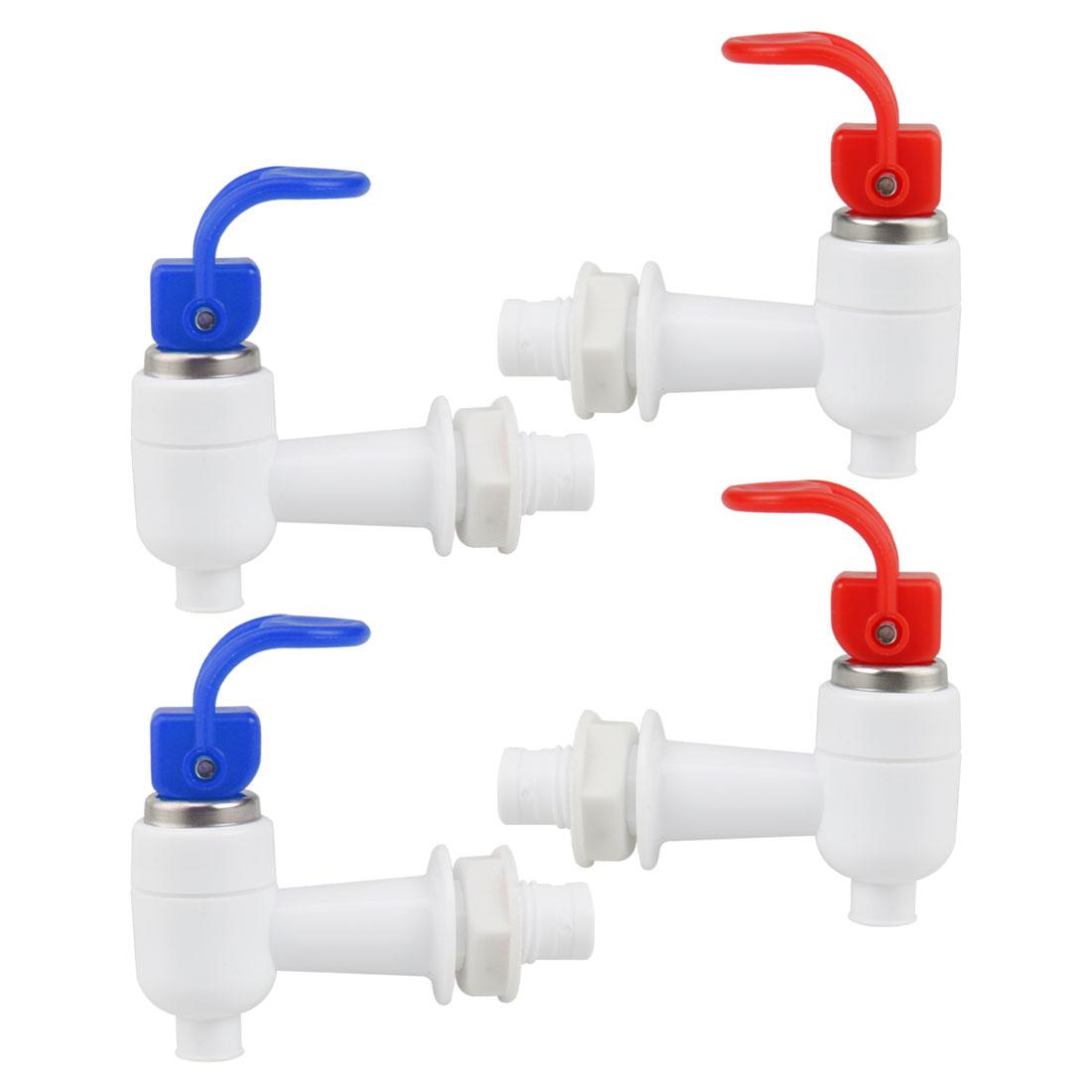 Assorted Color Plastic Water Cooler Hot Cold Home Faucet Spigot Replacement 4pcs