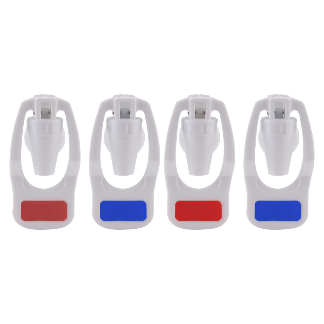 4pcs Plastic Water Cooler Hot Cold Faucet Water Dispenser Replacement Red/Blue
