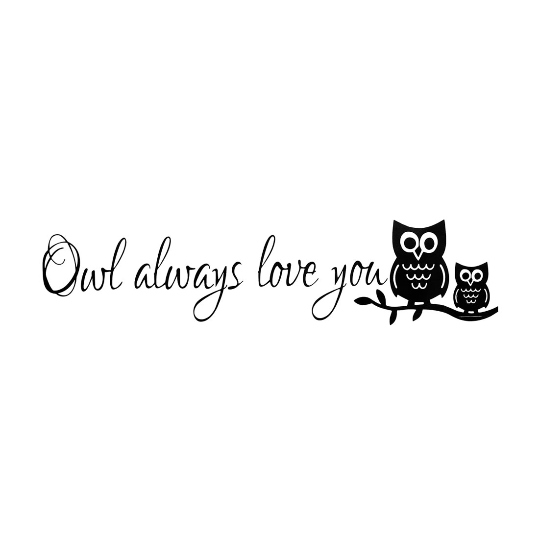 Night Owl Pattern Wall Stickers Removable Art Decal for Bedroom Living Room
