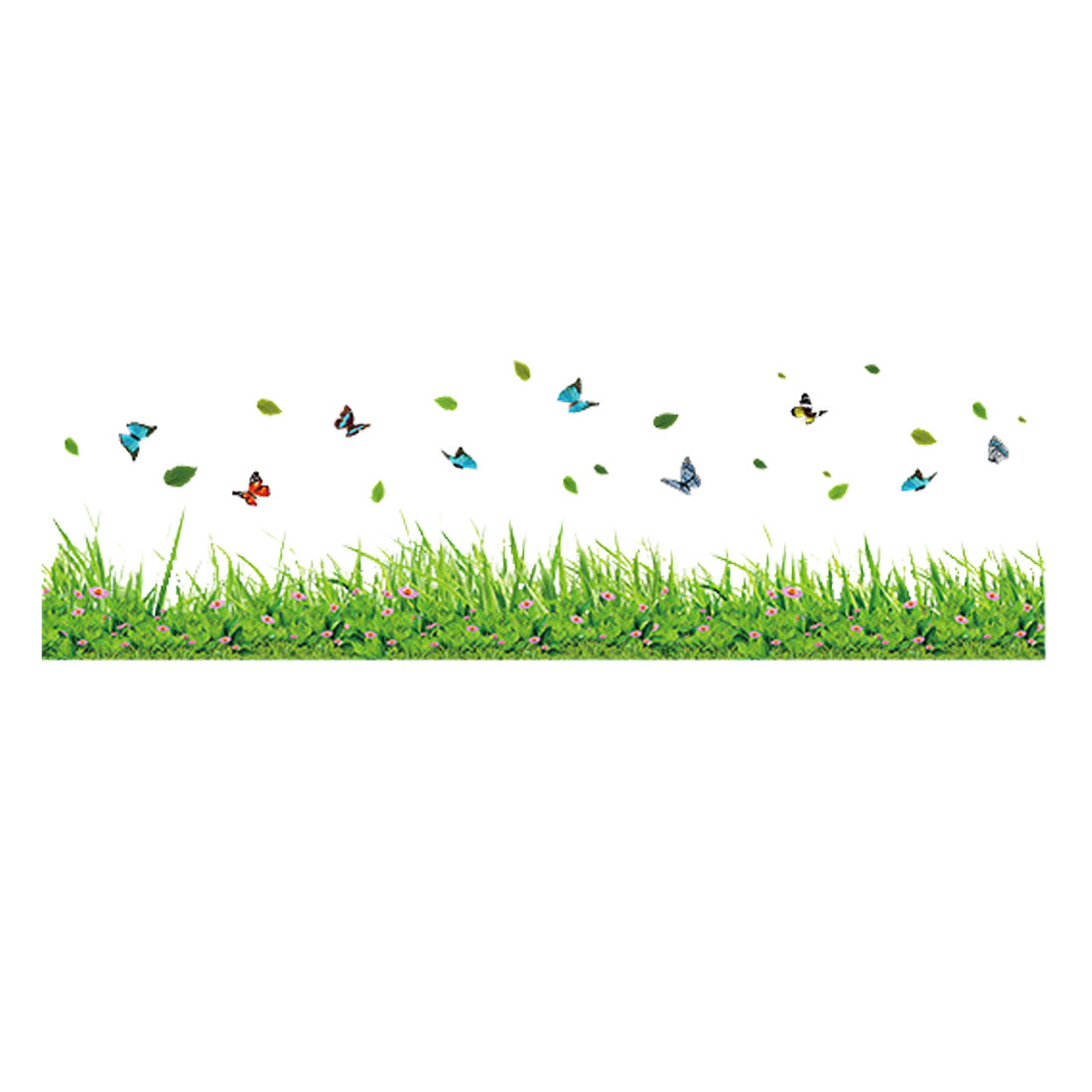 Butterfly Grass Pattern Wall Stickers Removable Decal for Bedroom Living Room