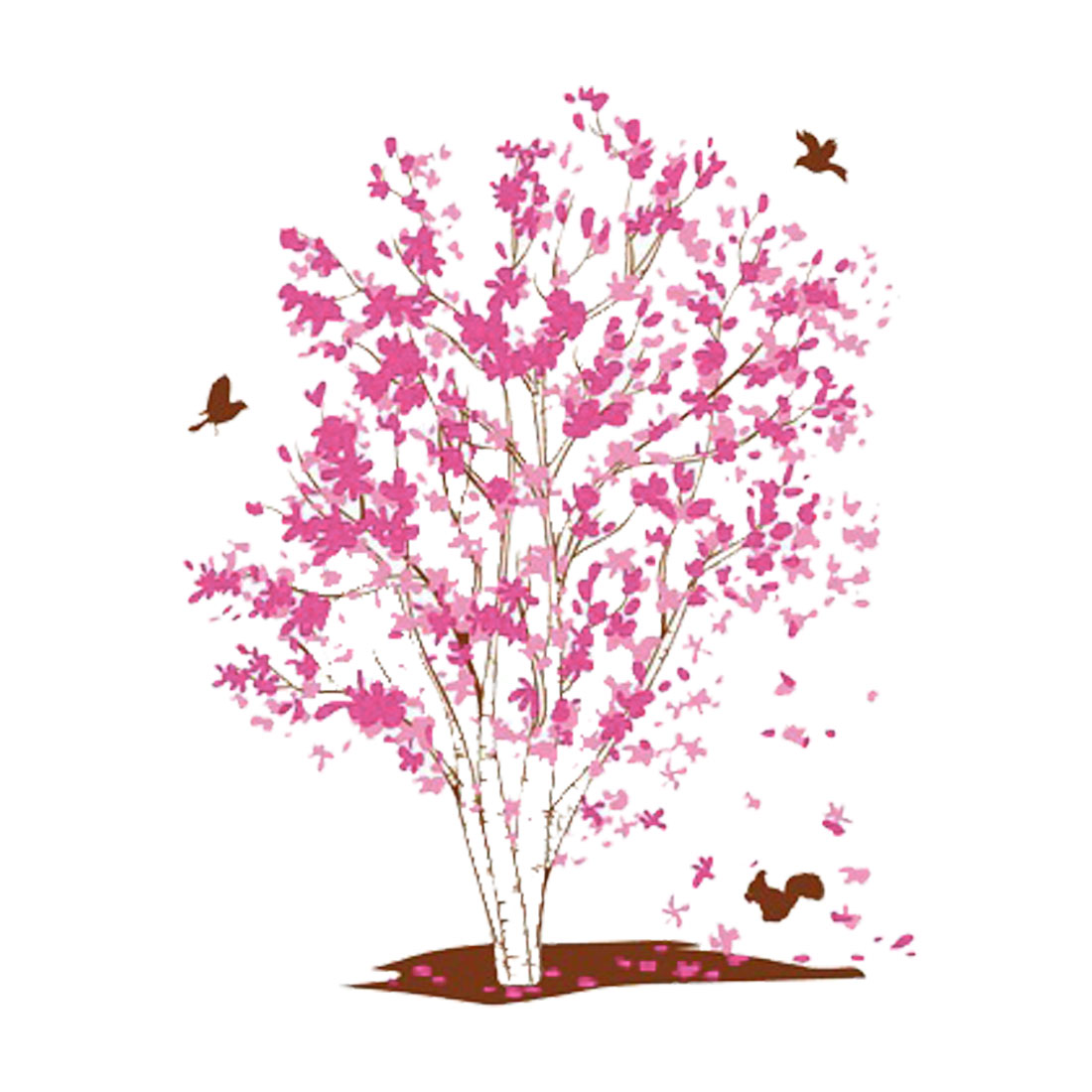 Fantasy Flower Tree Pattern Wall Sticker Removable Decal for Living Room Bedroom