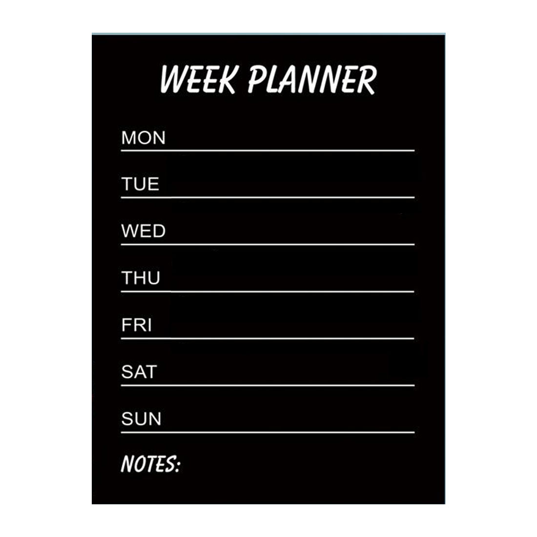 Week Planner Pattern Wall Stickers Removable Paper Decal for Bedroom Classroom