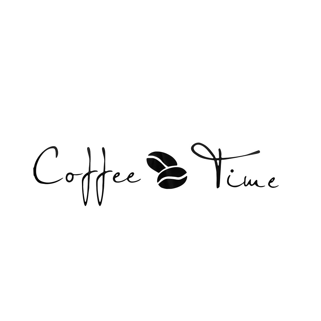 Coffee Time Pattern Wall Stickers Removable Art Decals for Home Office