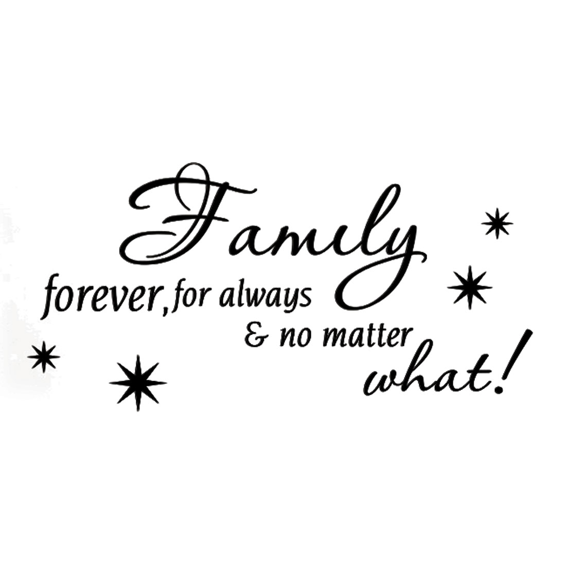 Family Forever Text Pattern Wall Stickers Removable Decals for Home Living Room