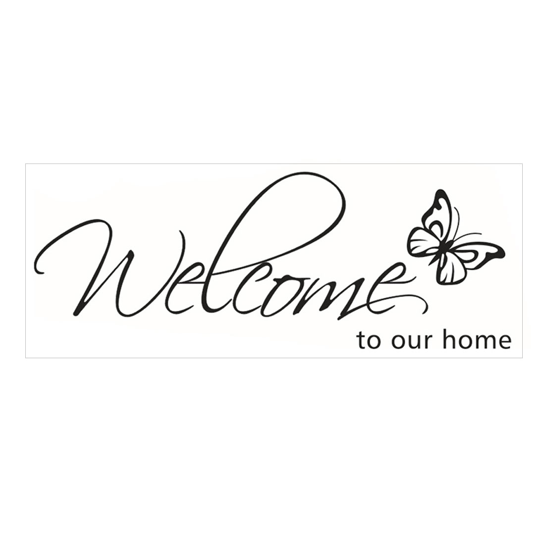 Welcome Text Pattern Wall Stickers Removable Art Decals for Home Living Room