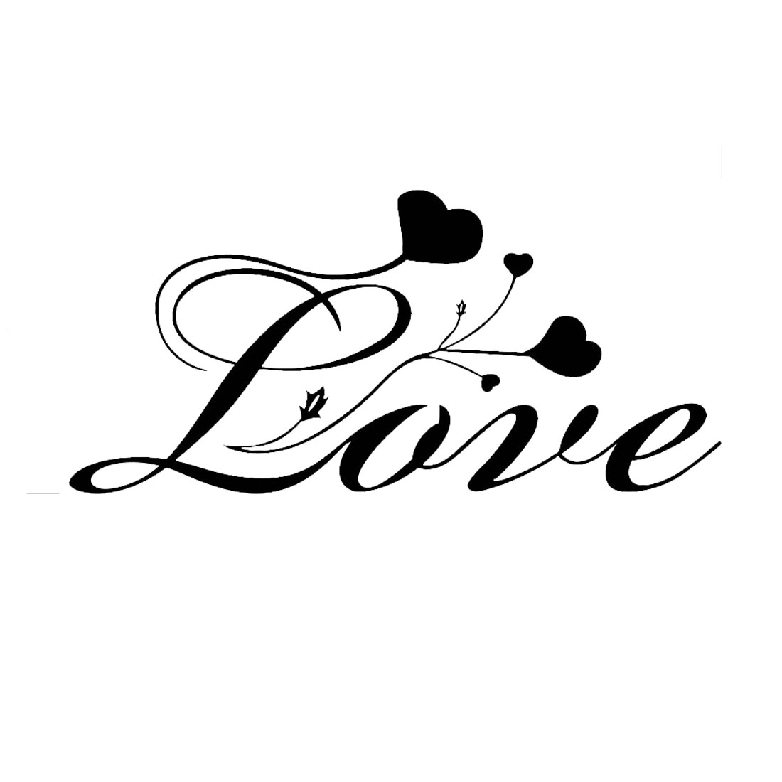 Love Pattern Wall Stickers Removable Art Decals for Home Living Room
