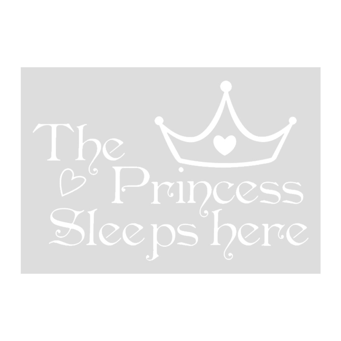 Princess Word Wall Sticker Removable PVC Art Decals Paper Home Room Decor White