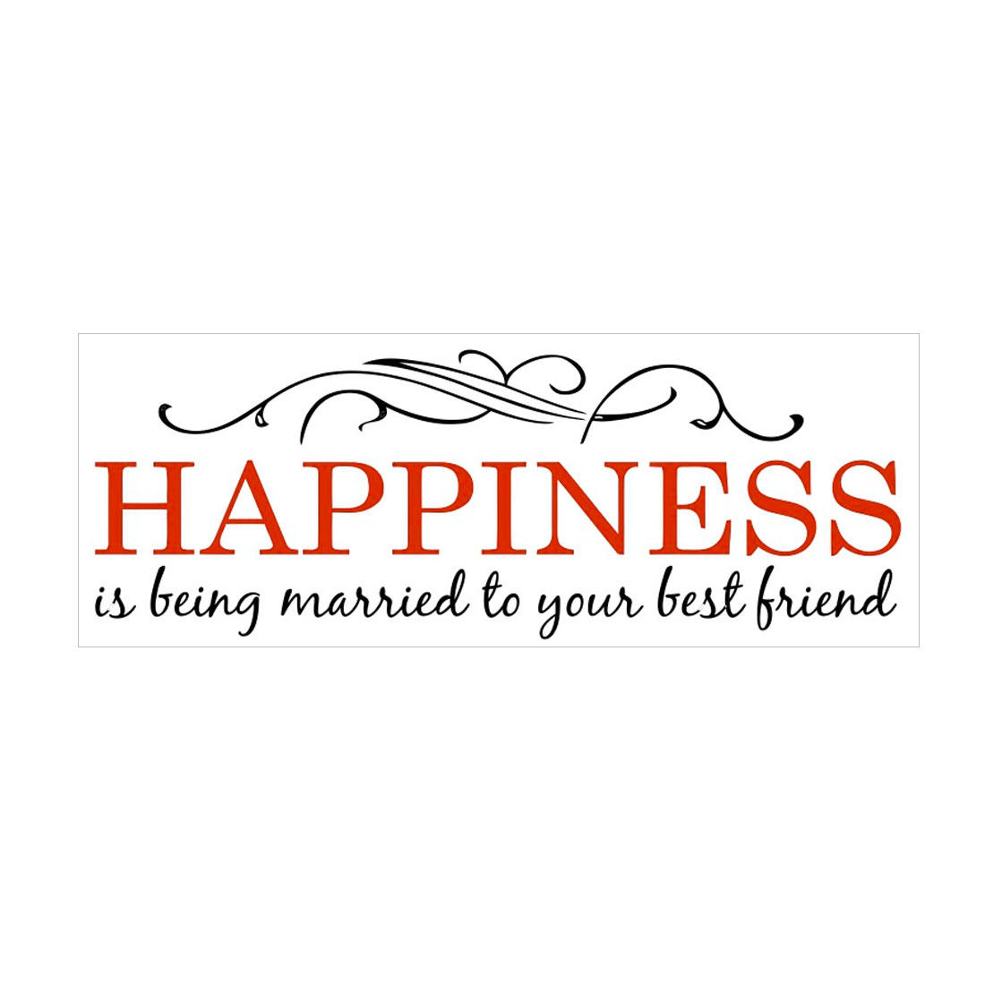 Happiness Quote Wall Sticker Removable PVC Art Decals Home Office Decor