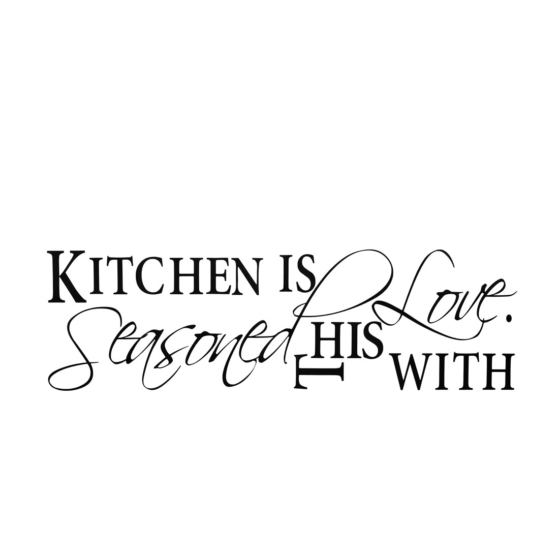 Kitchen Tool Paper Wall Sticker Removable PVC Art Decals Home Office Decor