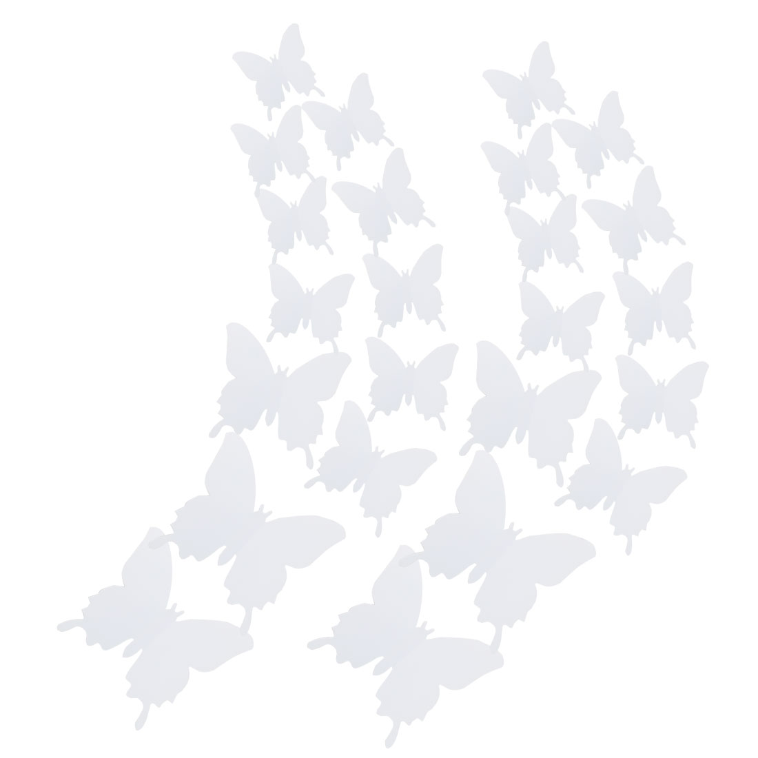 24pcs 3D Butterfly DIY Wall Sticker with Art Decals Sticker for Decor White